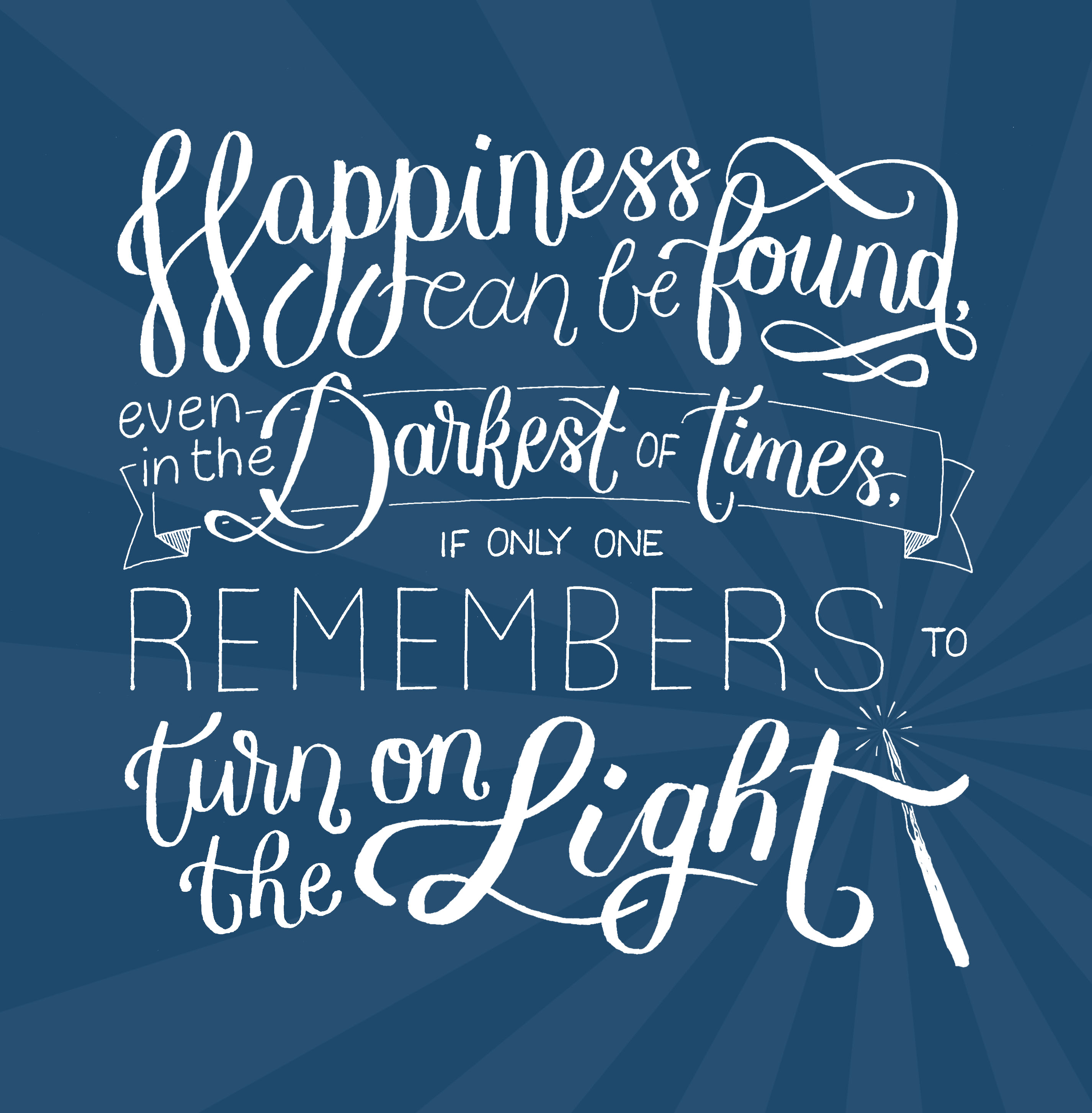Happiness Dumbledore Calligraphy Quote