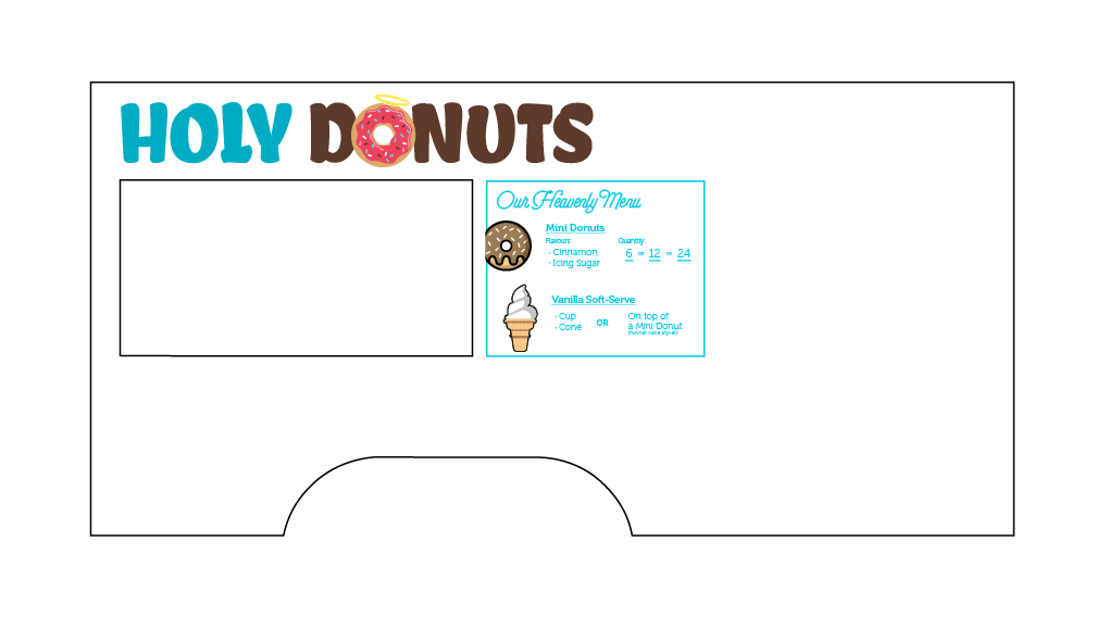 Holy Donuts truck design
